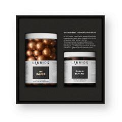 Bülow Lakrids Opskrifter regular+small black box - the classic & dark sea salt fra lakrids
