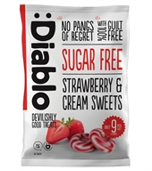 Diablo strawberry & Cream Sweets, sukkerfri