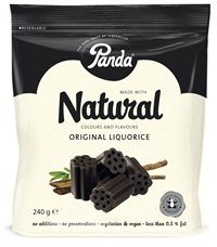 Panda All Natural lakrids - vegansk 240 g