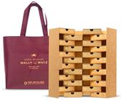 Julekalender med vingummi fra Wally and Whiz - Gold + Bag