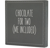 "Konnerup chokoladeplade ""Chocolate for two (me included)"""