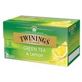 Twinings Green Tea & Lemon Økologisk 25 Tebreve
