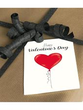Mouse & Pen Kort - Happy Valentins Day (A7)