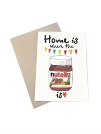 Mouse & Pen Kort - Home Is Where the Nutella Is (A6)