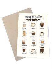 Mouse & Pen Kort - World Of Coffee (A6)